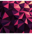 Triangular Low Poly Dark Pink Pattern vector image