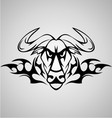 Tribal Buffalo vector image vector image