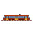 ujnderground train on white background vector image