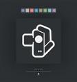 videocamera icon vector image