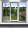 View from window of landscape Spring vector image vector image