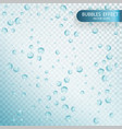 water bubbles isolated on a transparent checkered vector image vector image