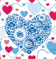 Wedding romantic seamless pattern with hearts vector image vector image