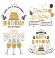 wish you a very happy birthday dear friend badge vector image vector image