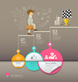 Circles paper step business man infographic vector image