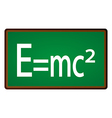 Theory of Relativity Chalkboard vector image