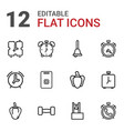 12 bell icons vector image vector image