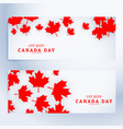 1st july canada day banners vector image
