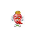 a cartoon red christmas bulb wearing costume of vector image vector image