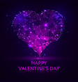 abstract points happy day valentines blue purple vector image