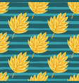 abstract seamless botanic pattern with creative vector image vector image