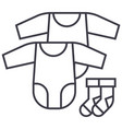 baby dress rompers and socks line icon vector image vector image