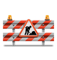 Barrier with Sign and Beacon vector image vector image