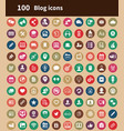 blog 100 icons universal set for web and ui vector image vector image