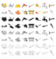 build and repair set icons in cartoon style big vector image vector image