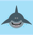 cartoon funny shark vector image vector image