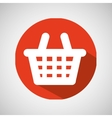cartoon red basket e-commerce online icon vector image vector image