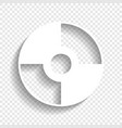 cd or dvd sign white icon with vector image