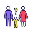child custody evaluation color icon vector image vector image