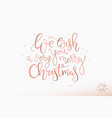 christmas lettering card hand drawn design white vector image