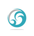 circle shape swirl teal wave vector image vector image