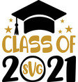 class 2021 black number with education vector image vector image