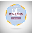 Congratulatory badge for the ninety-five years vector image vector image