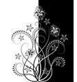contour floral pattern vector image