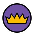 Crown icon vector image vector image