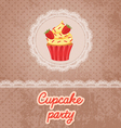 Cupcake Party vector image