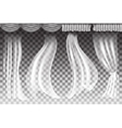 curtains on transparent background vector image