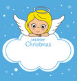 cute angel on top of a cloud vector image