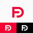 d and p logo monogram original symbol web ui icon vector image vector image