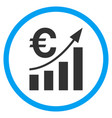 euro bar chart trend rounded icon vector image