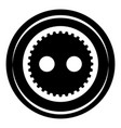 fabric button icon simple black style vector image vector image
