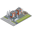 factory infrastructure isometric background vector image vector image
