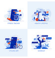 flat designed conceptual icons 9 vector image