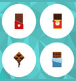 flat icon sweet set of delicious chocolate bar vector image vector image
