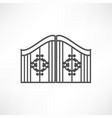 gate icon vector image