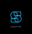 geometric shape letter s line monogram vector image vector image