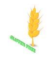 gluten allergen free icon isometric style vector image vector image