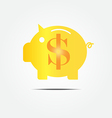 gold piggy bank vector image vector image