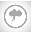 Grey thunderstorm sign icon vector image vector image