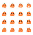 halloween pumpkin icons set vector image