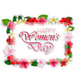 happy womens day with flowers vector image