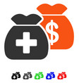 health care funds flat icon vector image vector image