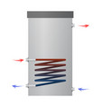 hot water heater vector image