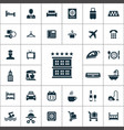 hotel icons universal set for web and ui vector image
