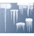 Icicles Transparent Set vector image vector image