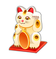 icon japanese cat toy vector image